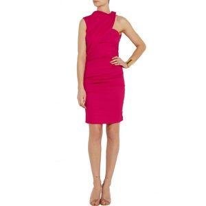 Lanvin Hot Pink Ruched Cocktail Dress 40 US 8